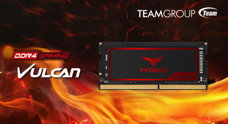 TEAMGROUP Releases Fast Memory Module T-FORCE VULCAN for Gaming Notebooks
