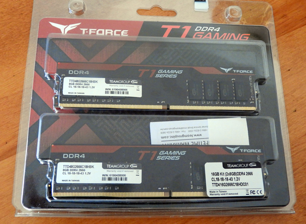 The Team Group T-FORCE T-1 Gaming DDR4 2666MHz 16 GB kit review