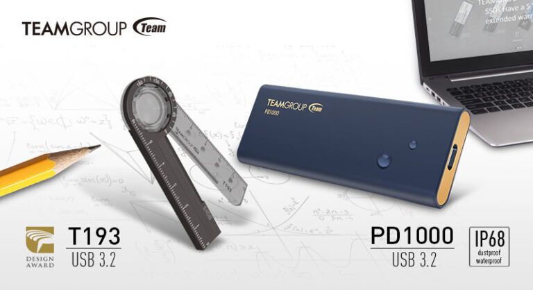Team Group Releases the T193 Stationery Flash Drive and the PD1000 Portable SSD