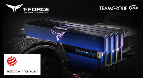 T-FORCE XTREEM ARGB Full Mirror Gaming Luminous Memory Wins the RED DOT Design Award