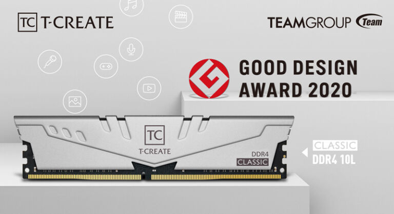 T-CREATE's New CLASSIC 10L Memory from TEAMGROUP Wins Japanese 'Good Design' Award 2020