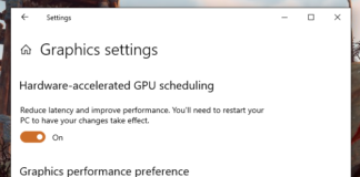 Windows 10 Hardware Accelerated GPU Scheduling - OS feature switch